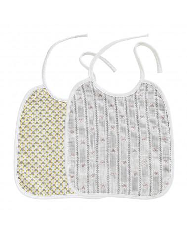 Set de 2 bavoirs pour bébé Mathilde M - Inspirations d'Intérieurs