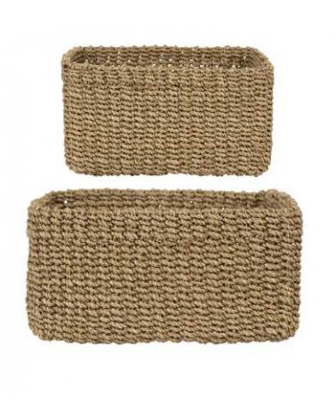 Square baskets x2 sand abaka - Côté Table- Inspirations d'Intérieurs