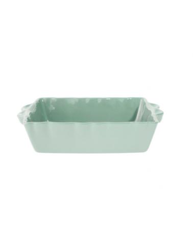 Plat à Four Rectangle Feston Vert D'eau 36x23 - Côté Table - Inspirations d'Intérieurs