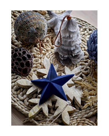 Ornament Set of 4 christmas feather Bloomingville