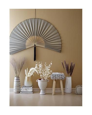 Vase haut à rayures beige grès - Bloomingville