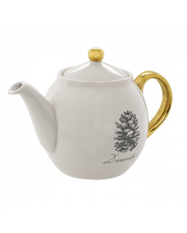 Maria Teapot, White, Stoneware Bloomingville