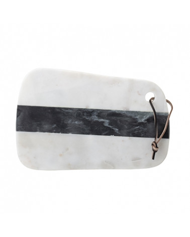 Cutting Board, White, Marble - Bloomingville