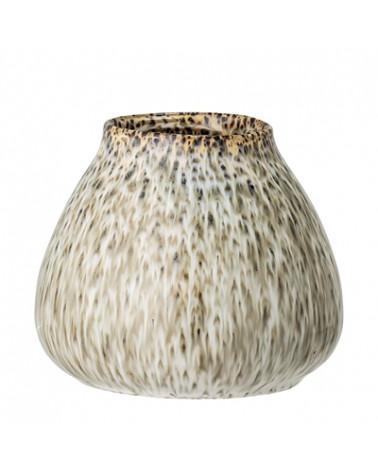 Vase vert beige grès - Bloomingville