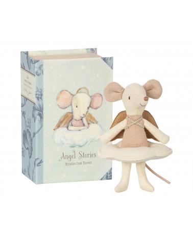 Souris ange, grande soeur dans son livre- Maileg - Angel mouse Inspirations d'Intérieurs