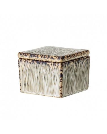 Jar w/Lid, Green, Stoneware - Bloomingville - Inspirations d'Intérieurs