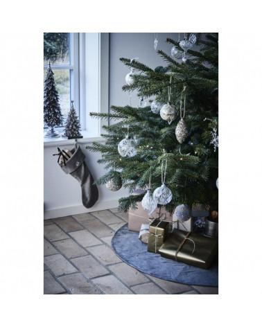 Jalia boule de Noël blanc cassé 8 cm- Lene Bjerre - Inspirations d'Intérieurs