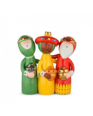 Figurine 3 rois mages Crèche Happy Eternity Baby - Alessi - Inspirations d'Intérieurs