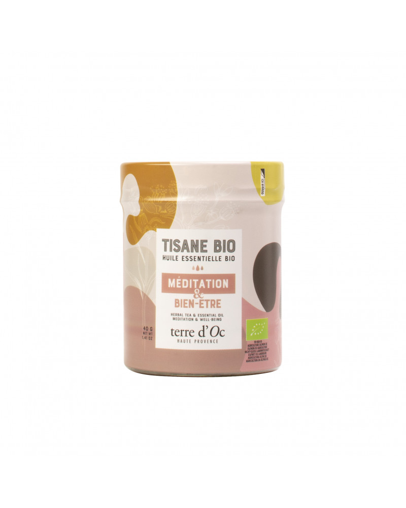 Organic meditation well-being herbal tea - TERRE D'OC - Inspirations d'Intérieurs