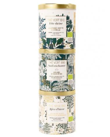 Box of 3 organic Christmas teas  - TERRE D'OC - Inspirations d'Intérieurs