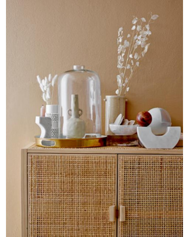 Vase blanc émaillé Stoneware Bloomingville - Inspirations d'Intérieurs