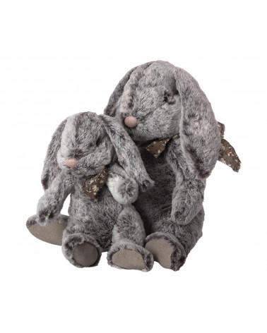 Fluffy Bunny Large Grey - Maileg - Inspirations d'Intérieurs