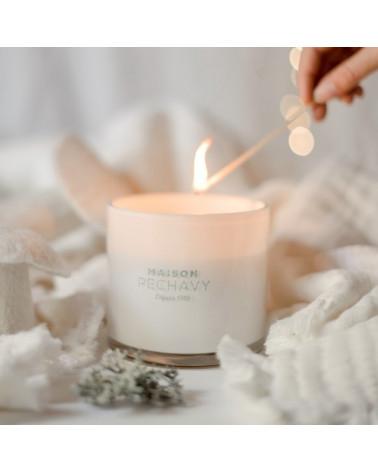 Bougie parfumée 3 mèches 500gr 100% cire végétale - Maison Péchavy - Inspirations d'Intérieurs