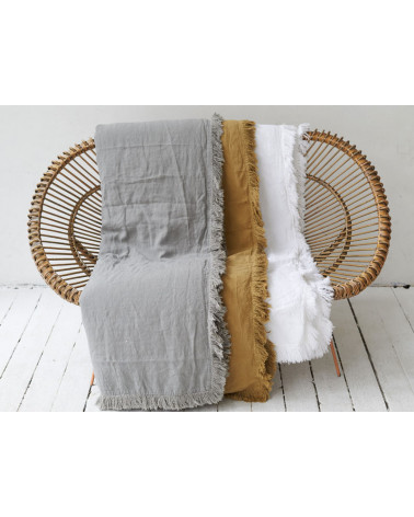 Fringed quilt 90x190 cm Orage - Bed and Philosophy