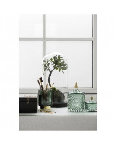 Miya jar glass green Ø8,5X10,5 CM - Lene Bjerre - Inspirations d'Intérieurs