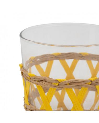 Glasses x 6 Lacis yellow Lacis - Côté Table