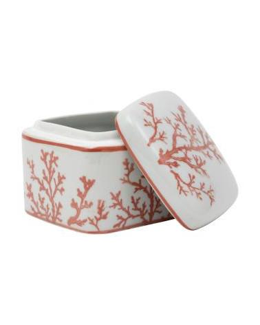 Boite Porcelaine Estran Rouge - Côté Table - Inspirations d'Intérieurs