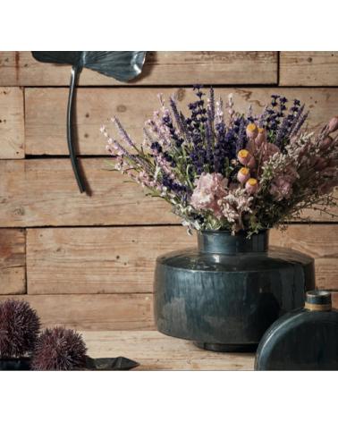 Vase Ormea bleu foncé d32xh23cm fer - Côté table - Inspirations d'Intérieurs