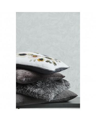 Poppy cushion 50x50 cm white gray pattern - Lene Bjerre - Inspirations d'Intérieurs