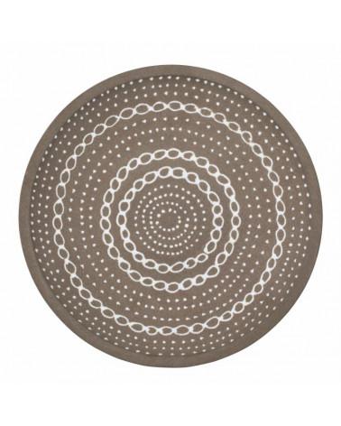 Afria plateau décoratif céramique 34,5 cm - Lene Bjerre - Inspirations d'Intérieurs