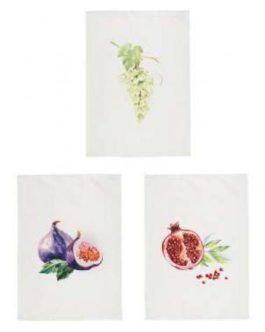 White Fruit tea towel 70x50cm - Côté Table - Inspirations d'Intérieurs