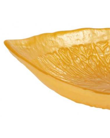 Golden yellow Sicily bowl 23 x 17 cm in glass - Côté Table - Inspirations d'Intérieurs