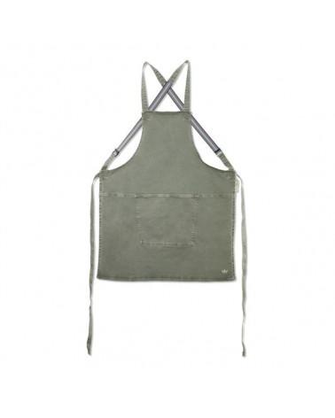 Tablier Suspender Canva Grey Green - Dutchdeluxes - Inspirations d'Intérieurs