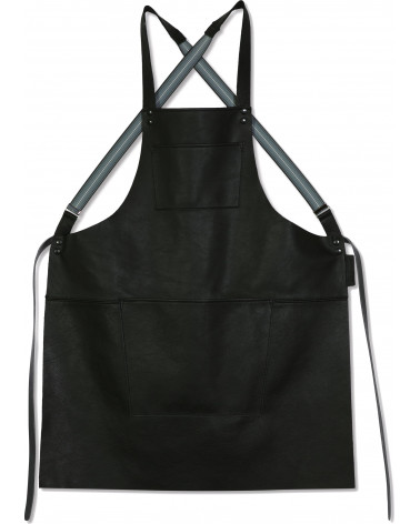 Apron Suspender Leather Black - Dutchdeluxes - Inspirations d'Intérieurs