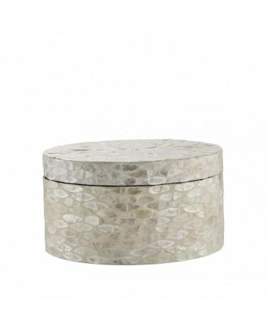 Cellia boite décorative off white 20,5x20,5x11 cm - Lene Bjerre - Inspirations d'Intérieurs