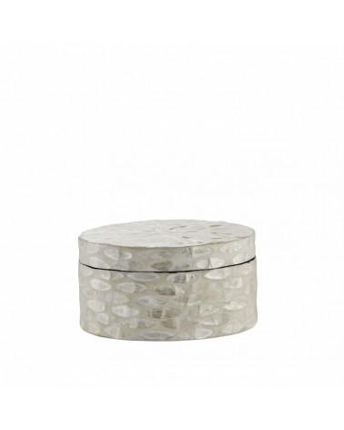 CELLIA boite décorative Ø15,5 CM. blanc cassé - Lene Bjerre - Inspirations d'Intérieurs