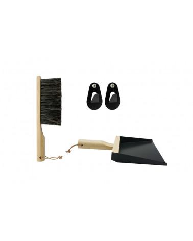 Shovel + Broom + Hooks set - Black - Andrée Jardin - Inspirations d'Intérieurs