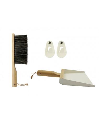 Le coffret Pelle + Balayette + Crochets – Blanc - Andrée Jardin - Inspirations d'Intérieurs