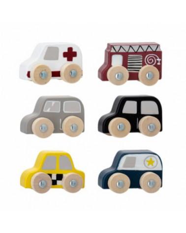 Avin Toy 6 wooden car  - Bloomingville - Inspirations d'Intérieurs