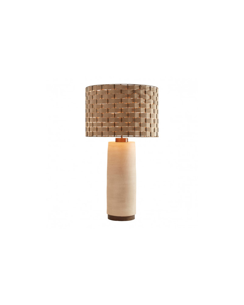 MAEL braided lamp and lampshade - Blanc d'Ivoire