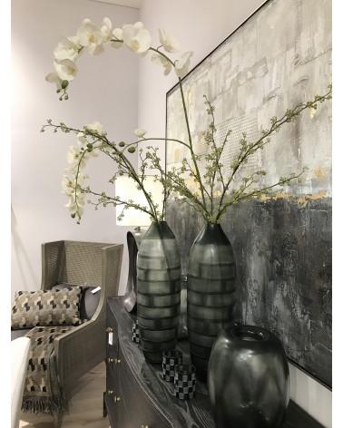 Vase verre Zoya transparent vert - Blanc d'Ivoire - Inspirations d'Intérieurs