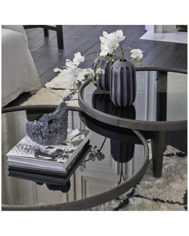 Vase en verre Aman moyen - Blanc d'ivoire - Inspirations d'Intérieurs