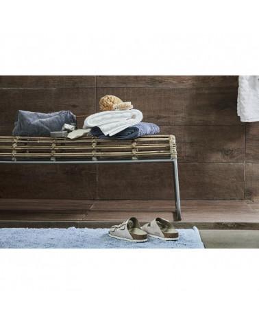 Grande trousse de toilette velours bleu 31x13 - Inspirations d'Intérieurs