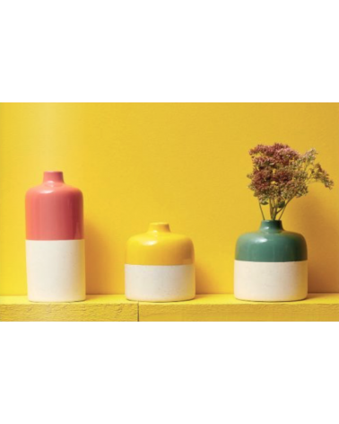 3 different vases with colors - Sema Design - Inspirations d'Intérieurs