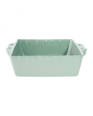 Plat à four carré feston vert d'eau Côté Table - Inspirations d'Intérieurs