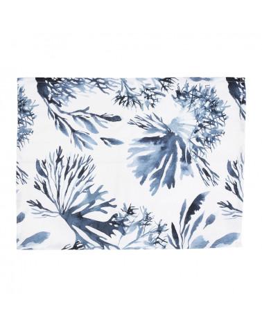 Torchon Bay Blanc bleu Côté Table - Inspirations d'Intérieurs
