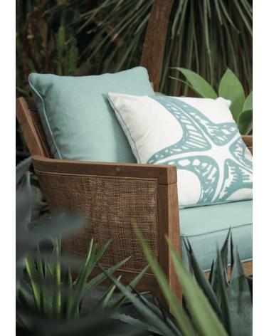 Starfish cushion emerald mare 45x45cm cotton - Côté Table - Inspirations d'Intérieurs